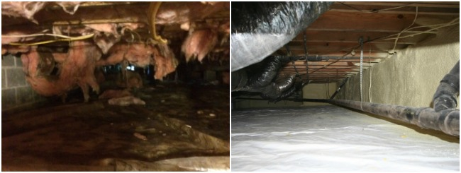 Before vs. After - Crawl Space Repair